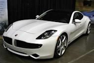 A Fisker Karma luxury plug-in hybrid car is seen at the sixth annual Alternative Transportation Expo and Conference (AltCar) in Santa Monica