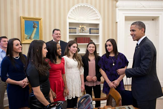 U.S. Olympic Gymnastics Team Visits White House