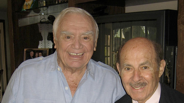 "This Oct. 10, 2008 photo from the Archive of American Television shows television producer and executive Henry Colman, right, with actor Ernest Borgnine. Colman, whose credits include ""The Love Boat,"" ""Hawaii Five-O"" and ""Green Acres,"" has died. He was 89. Colman died Wednesday, Nov. 7, 2012, according to an announcement Sunday, Nov. 11,  by the Archive of American Television. (AP Photo/Archive of American Television)"