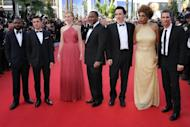 "(From L) David Oyelowo, Zac Efron, Nicole Kidman, director Lee Daniels, John Cusack, Macy Gray and Matthew McConaughey arrive for the screening of ""The Paperboy"" presented in competition at the 65th Cannes film festival in Cannes. As his characters journey into the moist heat of the Florida swamps, Daniels probes a dank and violent underbelly of American society"