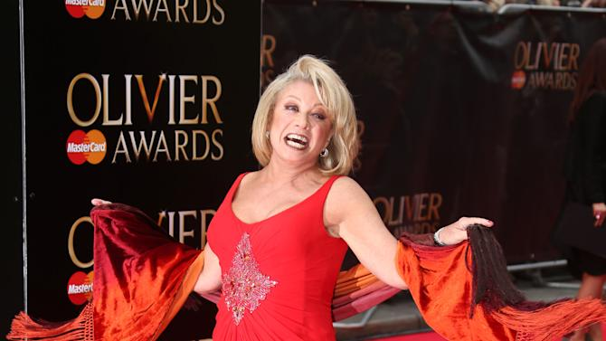 British singer Elaine Paige arrives for the Olivier Awards 2013 at the Royal Opera House in London, Sunday, April 28, 2013. (Photo by Joel Ryan/Invision/AP)
