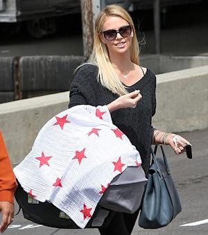 FIRST PIC: Charlize Theron Steps Out With Baby Jackson, 4 Months
