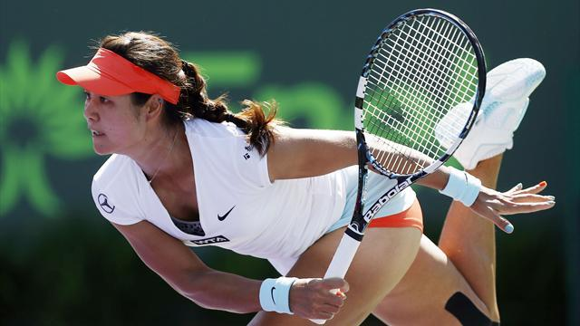 Tennis - Li finds Keys to victory, reaches fourth round in Miami
