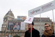 Activists of the opposition Momentum Movement collect signatures to force a referendum on the country's Olympic plans as Budapest bids for the 2024 Olympic Games, in central Budapest, Hungary, February 15, 2017.Picture taken February 15, 2017. REUTERS/Laszlo Balogh