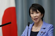 Japan's new Internal Affairs and Communications Minister Sanae Takaichi