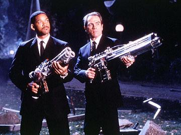 Will Smith and Tommy Lee Jones in Columbia Pictures' Men in Black