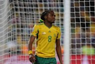 South Africa ended an eight-match winless run by outclassing Gabon 3-0 at chilly Mbombela Stadium Friday in a lively friendly match. Captain Siphiwe Tshabalala, pictured in 2010, converted a late first-half free kick to put Bafana Bafana (The Boys) ahead