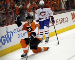 Briere helps Flyers top Canadiens, clinch playoffs