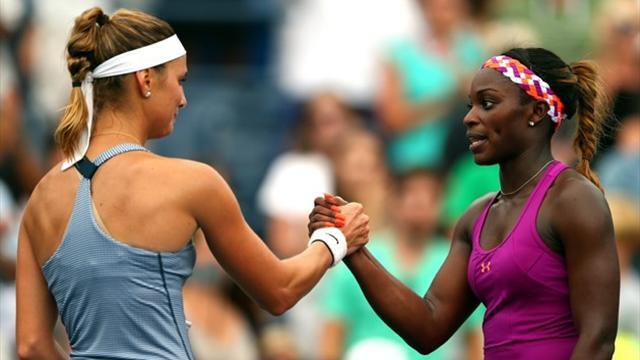 US Open - Nerves get to Stephens as she scrapes through
