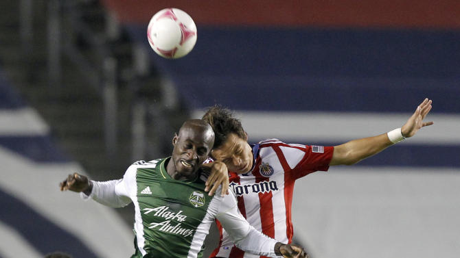 Valeri scores 2 early lead, Timbers top Chivas 5-0
