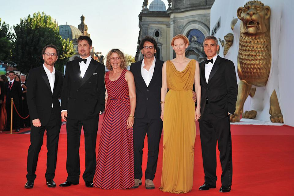 Venice Film Festival 2008 Burn After Reading Premiere Ethan Coen Brad Pitt Frances McDormand Joel Coen Tilda Swinton George Clooney