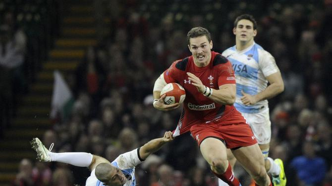 Wales' George North is tackled by Argentina's Santiago Cordero during their international rugby union match at the Millennium Stadium in Cardiff