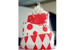 Ruby Red Wedding Cake