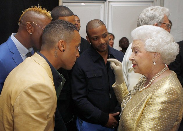 JLS, Queen, backstage, Diamond Jubilee Concert