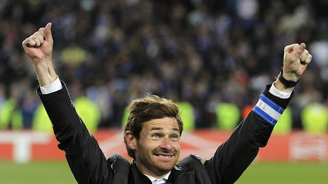 Andres Villas-Boas celebrates Porto's Europa League final victory over Braga