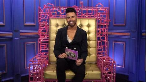 Rylan Clark is right at home on the 'Big Brother' diary room chair. Copyright [Rylan Clark Twitter]