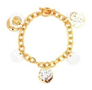 Add a little glamour with this gold bracelet
