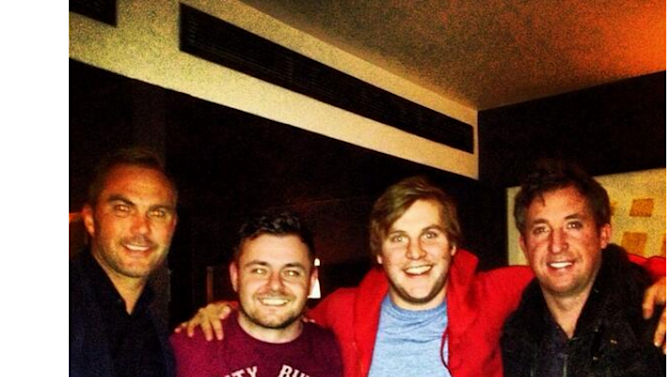 Elmo and Fran from Love/Hate are spending this evening with Robbie Fowler and Jason McAteer