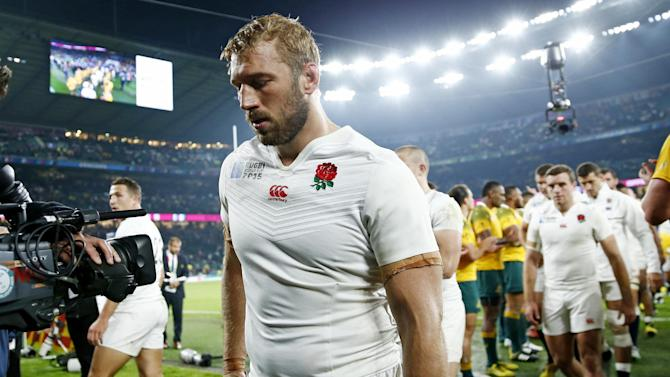 England's Chris Robshaw looks dejected as he leaves the field at the end of the match