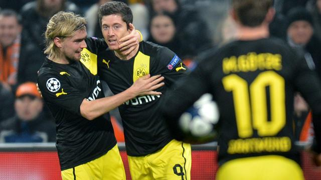 Champions League - Dortmund hold Shakhtar in thriller