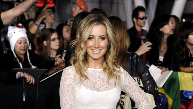 "Ashley Tisdale arrives at the world premiere of ""The Twilight Saga: Breaking Dawn - Part 1"" on Monday, Nov. 14, 2011, in Los Angeles. (AP Photo/Chris Pizzello)"