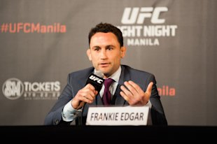 Frankie Edgar will likely fight the winner of Jose Aldo-Conor McGregor. (Photo by Dondi Tawatao/Getty Images)