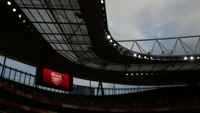 General view of the Emirates Stadium before the match