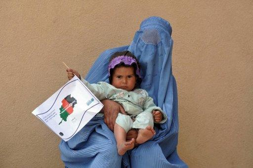 "An Afghan woman holds a child in a tuberculosis section of the main hospital in Herat on April 9, 2012. Scientists said Tuesday they had managed to kill lab-grown tuberculosis (TB) bacteria with good old Vitamin C -- an ""unexpected"" discovery they hope will lead to better, cheaper drugs"