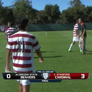 Recap: No. 3 Stanford men's soccer tallies three goals on No. 16 Oregon State