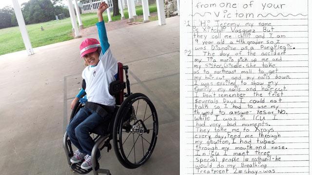 Texas Girl Paralyzed by Drunk Driver Leaves Jury in Tears