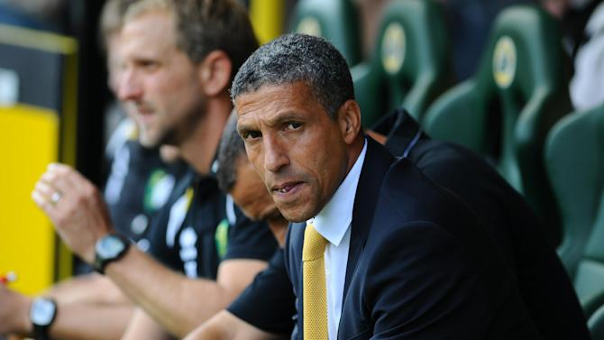 Chris Hughton felt Norwich were unlucky not to beat QPR