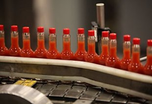Tabasco Bottling Line by Sara Bonisteel