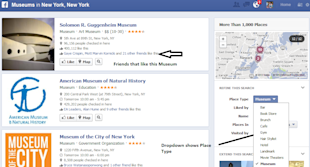 Facebook Graph Search – A First Glance image Graph Search NYC Museums