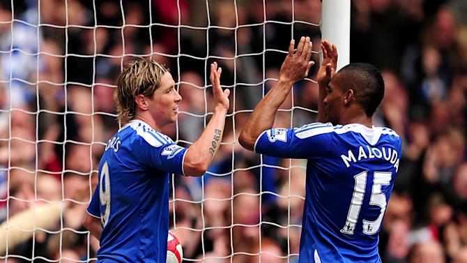 Fernando Torres (left) and Florent Malouda