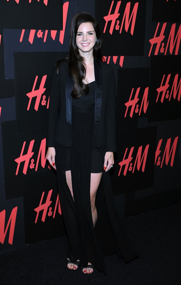 YAY OR NAY: Lana Del Rey's double-split skirt at H&M campaign launch