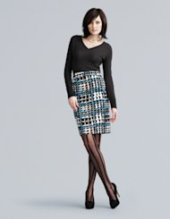 Choose a printed pencil skirt to remain ahead of the trend.