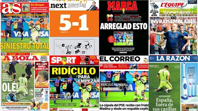 World Cup - 'A cataclysm': Spanish media and players wail after defeat