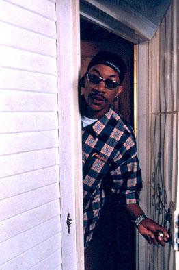 Director DJ Pooh on the set of Lions Gate's The Wash