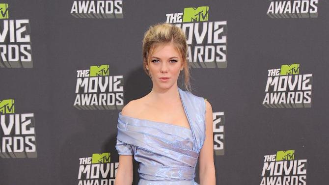 Actress Claire Julien arrives at the MTV Movie Awards in Sony Pictures Studio Lot in Culver City, Calif., on Sunday April 14, 2013. (Photo by Jordan Strauss/Invision/AP)