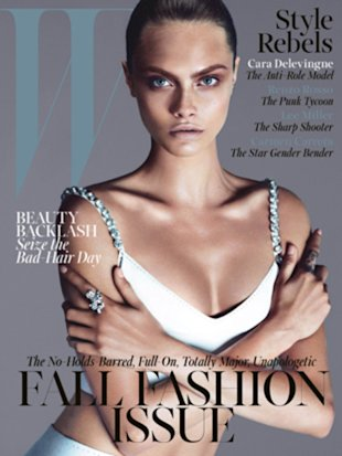 Cara Delevingne on W's September cover, photographed by Mert Alas & Marcus Piggott.