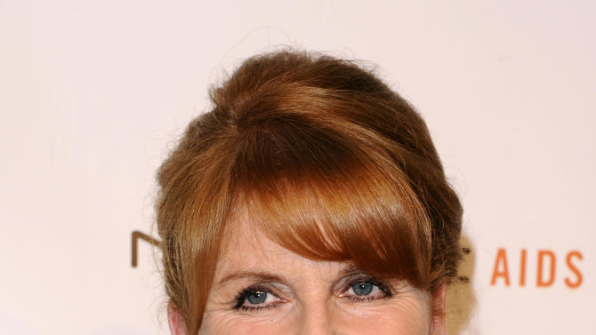 FILE - In this Wednesday, Oct. 26, 2011 file photo, Sarah Ferguson attends the Elton John AIDS Foundation 10th Annual Enduring Vision Benefit in New York. Sarah Ferguson was among 17 hacking victims who settled Friday Feb. 8, 2013 with News Corp. subsidiary News Group Newspapers over its campaign of illegal espionage, which set off a massive scandal when it was revealed in July 2011. (AP Photo/Peter Kramer, File)