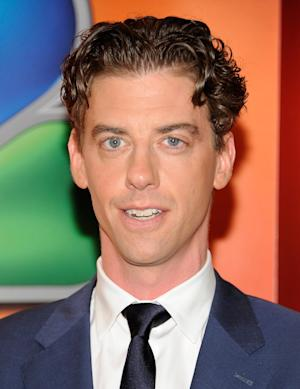 "FILE - In this Monday, May 14, 2012 file photo, actor Christian Borle arrives for the NBC network upfront presentation at Radio City Music Hall, in New York. Borle will be leaving ""Peter and the Starcatcher"" on June 30, 2012, to begin work on the new season of NBC's show ""Smash."" (AP Photo/Evan Agostini, File)"