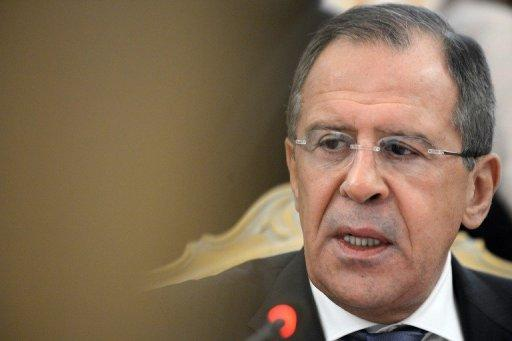 "Russia's Foreign Minister Sergey Lavrov speaks during a meeting with his visiting Poland's counterpart Radoslaw Sikorski in Moscow, on December 17, 2012. Russia said on Monday it would be ""political suicide"" for the government of Syrian President Bashar al-Assad if it used chemical weapons against the armed opposition"