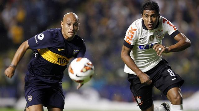 South American Football - Boca edge first leg Libertadores duel with Corinthians