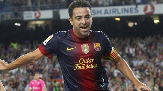 Xavi missed Barcelona's trip to Madrid, and the Champions League first leg with Milan