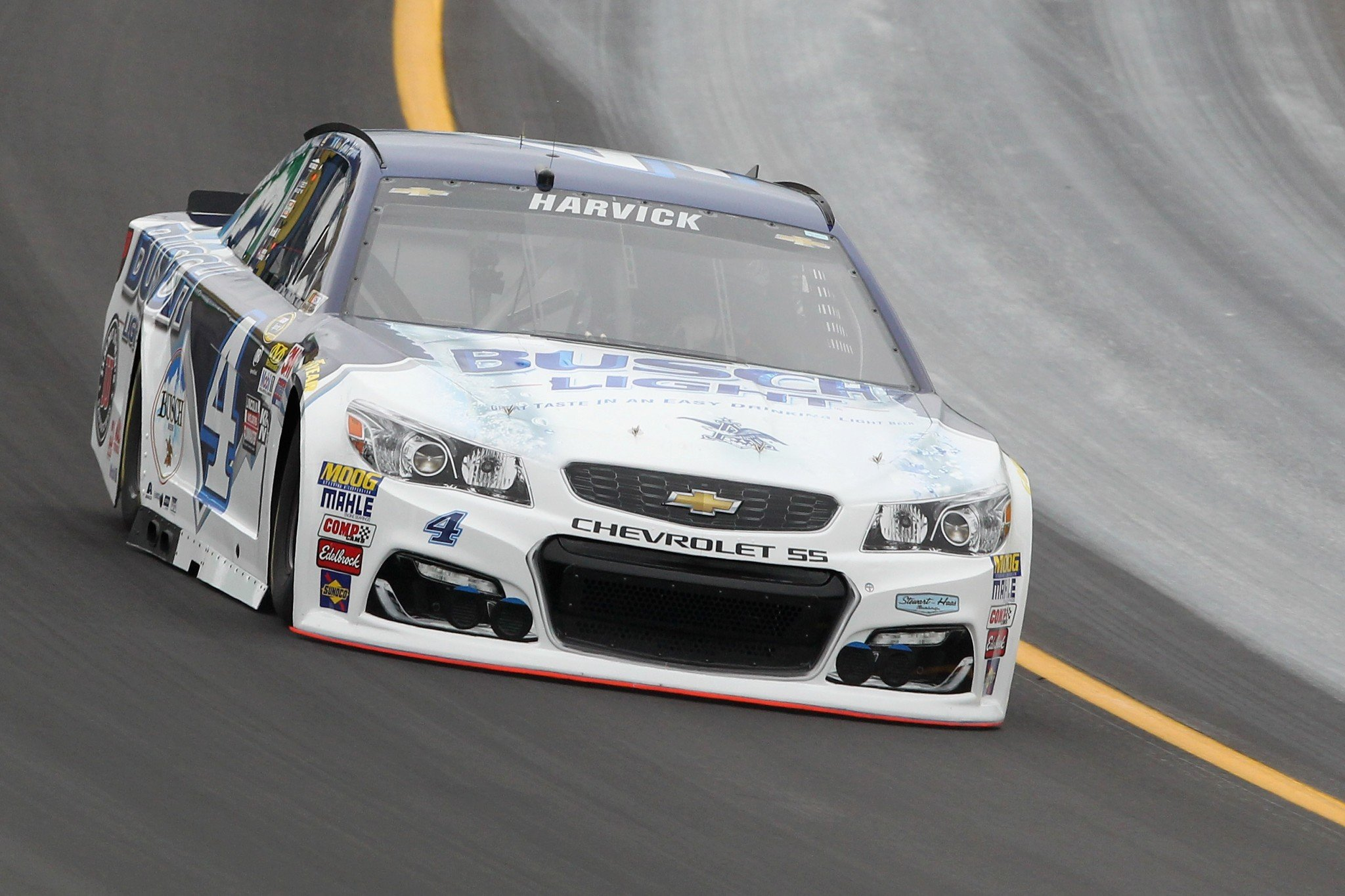 Kevin Harvick didn't have to qualify to start first (Getty).