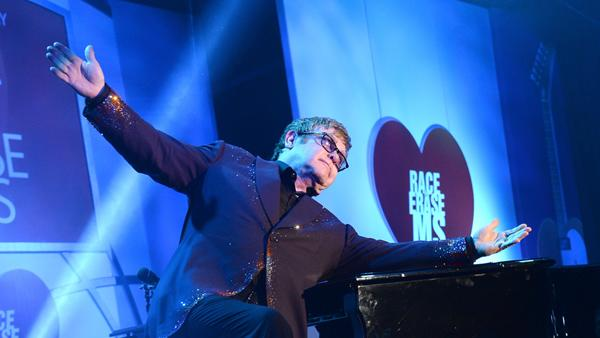 Elton John Dazzles In Intimate Performance to Fight Multiple Sclerosis