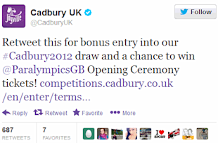 The 4 Most Effective Twitter Calls to Action image cadbury twitter marketing call to action