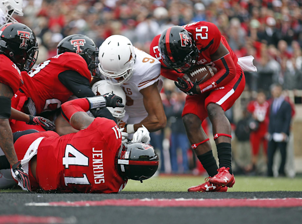 Texas tech rips ball from texas 39 rb 39 s hands and returns it for Formula 1 motors san jose ca