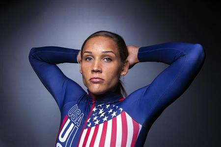 Olympic bobsledder Lolo Jones poses for a portrait during the 2013 U.S. Olympic Team Media Summit in Park City, Utah